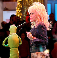NEW YORK, NY - NOVEMBER 27: Dolly Parton at Good Morning America in New York City wher she performed with the muppets during a live segment. November 27, 2012. Credit: RW/MediaPunch Inc. /NortePhoto