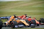 13.07.2019, Silverstone Circuit, Silverstone, FORMULA 1 ROLEX BRITISH GRAND PRIX 2019<br /> , im Bild<br />Sebastian Vettel (GER#5), Scuderia Ferrari Mission Winnow, Carlos Sainz Jr. (SPA#55), McLaren F1 Team<br /> <br /> Foto © nordphoto / Bratic