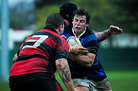 Action from the Horowhenua-Kapiti premier club rugby union match between Levin Athletic and Waikanae at Playford Park, New Zealand on Saturday, 7 July 2018. Photo: Dave Lintott / lintottphoto.co.nz