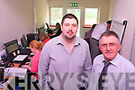 George Nash, Killarney Technology Inovation Centre's Development Manager on right with Niall Kelliher, MD of Tangerine Managment .in their new unit at the KTI Centre