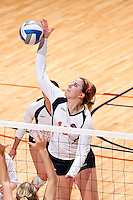 SAN ANTONIO, TX - NOVEMBER 7, 2008: The Nicholls State University Colonels vs. The University of Texas at San Antonio Roadrunners Volleyball at the UTSA Convocation Center. (Photo by Jeff Huehn)