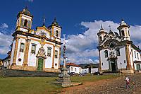 Igreja de São Francisco e Igreja do Carmo em Mariana. Minas Gerais. 2009. Foto de Rogério Reis.