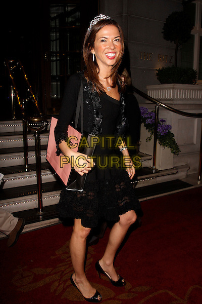 Heather Kerzner.Tatler's Jubilee Party arrivals, The Ritz, London, England..May 2nd, 2012.full length black dress lace tiara .CAP/AH.©Adam Houghton/Capital Pictures.