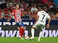 Atletico de Madrid vs Huesca Spanish league football match at Wanda Metropolitano in Madrid on September 25, 2018.