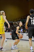 2012 FIBA Oceania Women's U19 Championship match between NZ Junior Tall Ferns and Australian Gems at Te Rauparaha Arena, Porirua, Wellington, New Zealand on Saturday, 22 September 2012.<br /> Photo by Masanori Udagawa<br /> www.photowellington.com