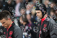 Goalkeeper Petr Cech of Arsenal ahead of the Premier League match between West Ham United and Arsenal at the Olympic Park, London, England on 13 December 2017. Photo by Andy Rowland.