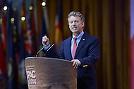National Harbor, MD - March 7, 2014: Sen. Rand Paul (R-KY) addresses attendees of the 2014 Conservative Political Action Conference held at National Harbor, MD, March 7, 2014.   (Photo by Don Baxter/Media Images International)