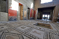 Paquius Proculus' domus one of  Six ancient residences, or 'domus', at archaeological excavations of Pompeii  reopen to visitors  following restoration.<br /> <br /> Pompei  sei domus riaprono al pubblico dopo il restauro