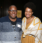Michael R. Jackson and Charly Evon Simpson  during the Vineyard Theatre's Emerging Artists Luncheon honoring Charly Evon Simpson with the Paula Vogel Playwriting Award at the National Arts Club on November 25, 2019 in New York City.
