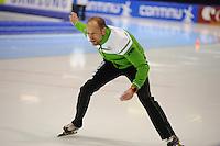 SCHAATSEN: HEERENVEEN: 26-12-2013, IJsstadion Thialf, KNSB Kwalificatie Toernooi (KKT), Gerard Kemkers (trainer/coach TVM Schaatsploeg), ©foto Martin de Jong