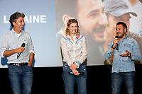 """EXCLUSIF : Eric Lavaine, Alexandra Lamy et José Garcia lors de l'avant-première du film """" Chamboultout """" à l'UGC De Brouckère, à Bruxelles.<br /> Belgique, Bruxelles, 22 mars 2019.<br /> EXCLUSIVE : French actress Alexandra Lamy, French actor José Garcia and French director Eric Laverne attend the movie premiere of ' Chamboultout ' at the UGC De Brouckère in Brussels.<br /> Belgium, Brussels, 22 March 2019."""