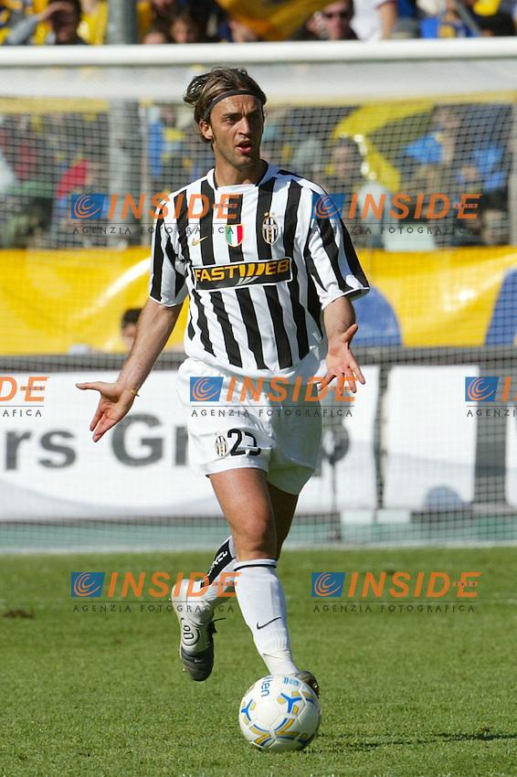Parma 18/4/2004 Campionato Italiano Serie A <br /> 30a Giornata - Matchday 30 <br /> Parma Juventus 2-2 <br /> Nicola Legrottaglie (Juventus) <br />  Foto Insidefoto