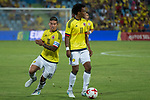 Juan Guillermo Cuadrado and James Rodriguez of Colombia during the friendly match between Camerun and Colombia in Madrid, Spain 13 jun 2017.(ALTERPHOTOS/Rodrigo Jimenez)