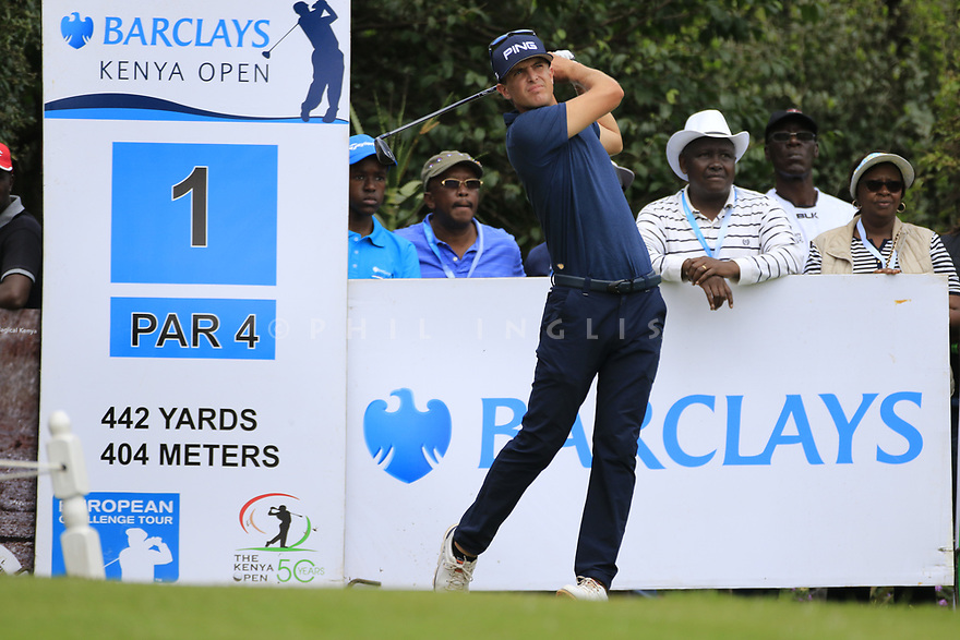 Nico Geyger (CHI) during the final round of the Barclays Kenya Open played at Muthaiga Golf Club, Nairobi, Kenya 22nd - 25th March 2018 (Picture Credit / Phil Inglis) 22/03/2018<br /> <br /> <br /> All photo usage must carry mandatory copyright credit (&copy; Golffile | Phil Inglis)