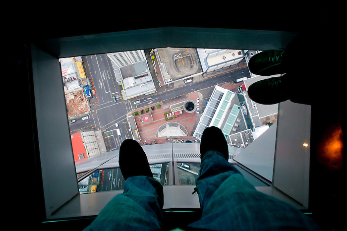 Glass Floor At The Top Of Sky Tower Auckland North