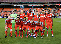 Toronto FC poses for the team photo before the game at RFK Stadium in Washington, DC.  D.C. United tied Toronto FC, 3-3.