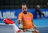 Rotterdam, Netherlands, December 13, 2016, Topsportcentrum, Lotto NK Tennis, Wheelchair,  Koen Meerwijk (NED)<br /> Photo: Tennisimages/Henk Koster