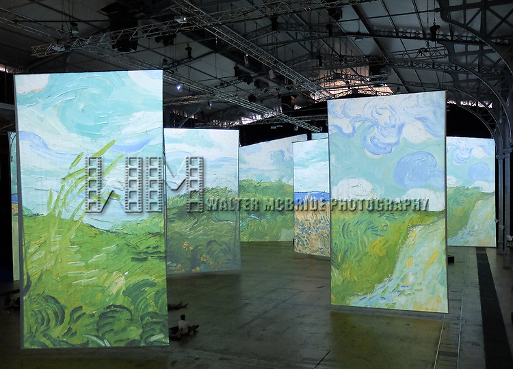 IMAGINE VAN GOGH, the immersive exhibition at the Grande Halle de la Villette on July 16, 2017 in Paris, France.