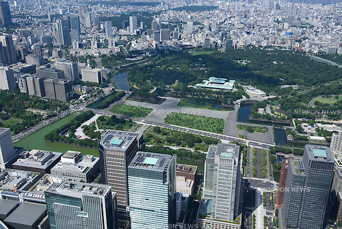 Imperial Palace Garden: Tokyo, Japan: Aerial view of proposed venue for the 2020 Summer Olympic Games. (Photo by AFLO)