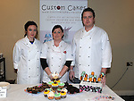 Aoife and Neil Costello and Sarah Cunningham of Custom Cakes in Grange Rath pictured at the the craft fair in the Boyne Valley hotel. Photo: Colin Bell/pressphotos.ie