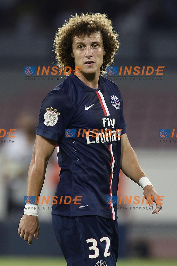 David Luiz PSG <br /> Napoli 11-08-2014 Stadio San Paolo <br /> Amichevole Calcio 2014/2015 Napoli - PSG Paris Saint Germain <br /> Foto Daniele Bugga / Imagesport / Insidefoto