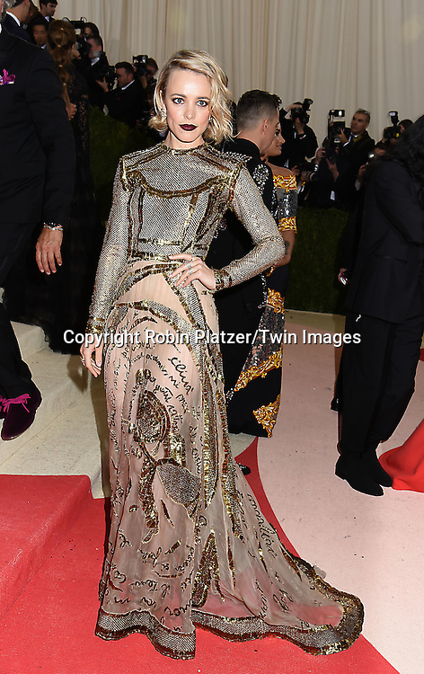 Rachel McAdams attends the Metropolitan Museum of Art Costume Institute Benefit Gala on May 2, 2016 in New York, New York, USA. The show is Manus x Machina: Fashion in an Age of Technology. <br /> <br /> photo by Robin Platzer/Twin Images<br />  <br /> phone number 212-935-0770