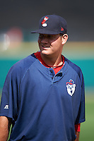 Pawtucket Red Sox pitcher Kyle Martin (40) walks to the dugout after a game against the Rochester Red Wings on June 29, 2016 at Frontier Field in Rochester, New York.  Pawtucket defeated Rochester 3-2.  (Mike Janes/Four Seam Images)