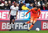 Bolton Wanderers' Sammy Ameobi reacts to losing the ball to Millwall's Jake Cooper <br /> <br /> Photographer Andrew Kearns/CameraSport<br /> <br /> The EFL Sky Bet Championship - Bolton Wanderers v Millwall - Saturday 9th March 2019 - University of Bolton Stadium - Bolton <br /> <br /> World Copyright © 2019 CameraSport. All rights reserved. 43 Linden Ave. Countesthorpe. Leicester. England. LE8 5PG - Tel: +44 (0) 116 277 4147 - admin@camerasport.com - www.camerasport.com