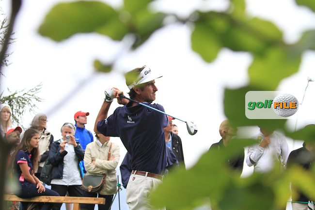 Gonzalo Fdez-castano (ESP) on the 10th during the final day of the Omega European Masters, Crans-Sur-Sierre, Crans Montana, Switzerland.4/9/11.Picture: Golffile/Fran Caffrey..