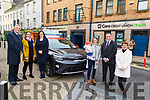 Tara Flynn from Tralee receives the keys to her new car at the Cara Credit Union on Thursday. <br /> Front l ro r: Tara Flynn, Anna Murphy, Pa Laide and  Rosaleen Flynn, <br /> Back l to r: Patrick McElligott, Roisin Curran and Susan Ennis.