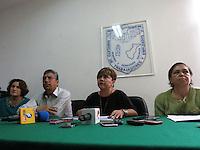 Querétaro, Qro. 23 de octubre 2015. La líder del Sindicato de Trabajadores y Empleados de la Universidad Autónoma de Querétaro, Lauray Leyva, denunció en rueda de prensa el despido injustificado de al menos 15 de sus agremiados. Foto: Alejandra L. Beltrán / Obture Press Agency