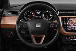 Car pictures of steering wheel view of a 2018 Seat Ibiza Xcellence 5 Door Hatchback