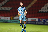 Joseph Mills of Forest Green Rovers celebrates scoring the first penalty for Rovers in the Shoot-out during Charlton Athletic vs Forest Green Rovers, Caraboa Cup Football at The Valley on 13th August 2019