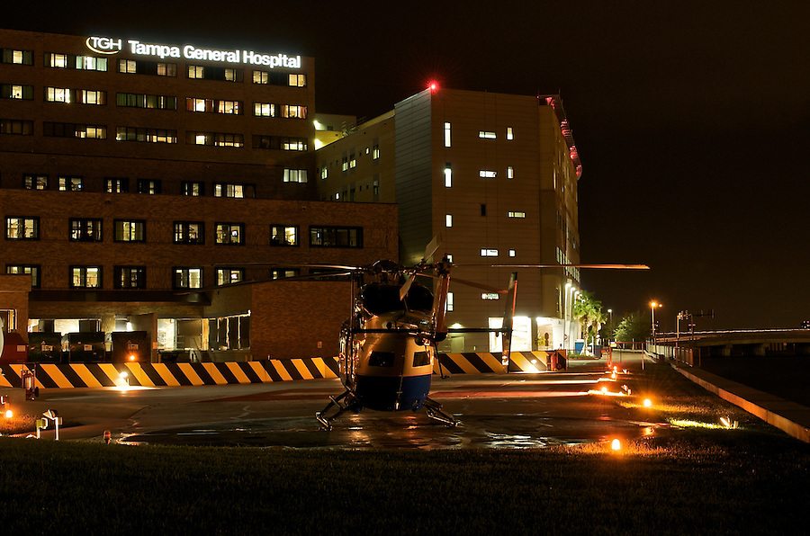 View of Helipad at Tampa General Hospital