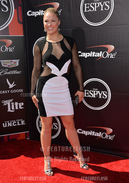Ronda Rousey at the 2015 ESPY Awards at the Microsoft Theatre LA Live.<br /> July 15, 2015  Los Angeles, CA<br /> Picture: Paul Smith / Featureflash