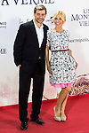 """Cayetana Guilen Cuervo with her husband Omar Ayyashi during the premiere of the spanish film """"Un Monstruo Viene a Verme"""" of J.A. Bayona at Teatro Real in Madrid. September 26, 2016. (ALTERPHOTOS/Borja B.Hojas)"""