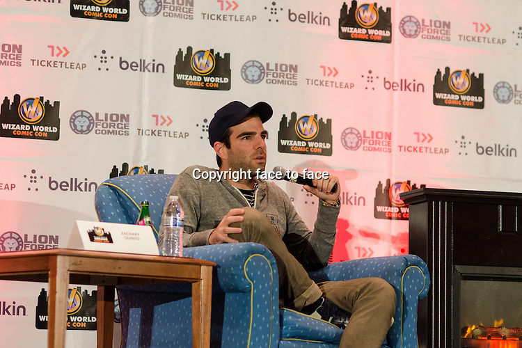 Zachary Quinto appears at Wizard World Chicago Comic Con in Rosemont, Illinois, 10.08.2013.<br />