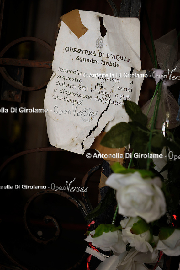 Terremoto de L'Aquila. L'Aquila Earthquake..Il convitto dello studente.The boarding school students.