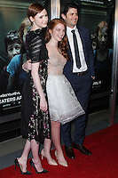 "HOLLYWOOD, LOS ANGELES, CA, USA - APRIL 03: Karen Gillan, Annalise Basso, James Lafferty at the Los Angeles Screening Of Relativity Media's ""Oculus"" held at TCL Chinese 6 Theatre on April 3, 2014 in Hollywood, Los Angeles, California, United States. (Photo by Xavier Collin/Celebrity Monitor)"