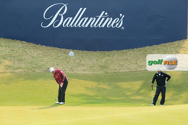 Ballantine's Championship 2013, Friday. Paul Lawrie & Thongchai Jaidee