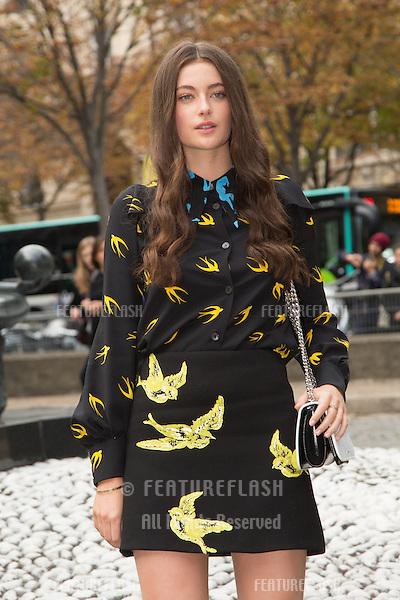 Millie Brady attend Miu Miu Show Front Row - Paris Fashion Week  2016.<br /> October 7, 2015 Paris, France<br /> Picture: Kristina Afanasyeva / Featureflash