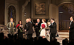 Rupert Grint, Stockard Channing, Matthew Broderick, Playwright Terrence McNally, Director Jack O'Brien, Megan Mullally, Nathan Lane and F. Murray Abraham during the Broadway Opening Night Performance Curtain Call for  'It's Only A Play'  at the Gerald Schoenfeld Theatre on October 9, 2014 in New York City.