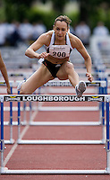 18 MAY 2008 - LOUGHBOROUGH, UK - Jessica Ennis - 100m Hurdles - Loughborough International Athletics. (PHOTO (C) NIGEL FARROW)