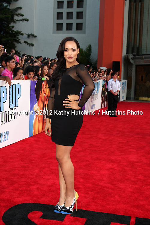 """LOS ANGELES - JUL 17:  Cleopatra Coleman arrives at the """"Step Up Revolution"""" Premiere at Graumans Chinese Theater on July 17, 2012 in Los Angeles, CA"""