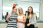 Enjoying the 10th anniversary Feale Rangers, hospitality event in the Huge Friel Stand on Ladies Day at Listowel Summer Race meeting on Sunday were Nuala Keane, Blossom Boutique, Helena Halpin, Blossom Boutique, and Claudine Clement