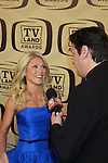 "Days of our Lives Rob Shuter interviews for TV Land.com All My Children Kelly Ripa wearing Jason Wu hosts the 10th Anniversary of the TV Land Awards on April 14, 2012 to honor shows ""Murphy Brown"", ""Laverne & Shirley"", ""Pee-Wee's Playhouse"", ""In Loving Color"" and ""One Day At A Time"" and Aretha Franklin at the Lexington Armory, New York City, New York. (Photo by Sue Coflin/Max Photos)"