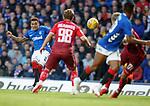 23.08.18 Rangers v Ufa: James Tavernier fires in a free kick at the keeper