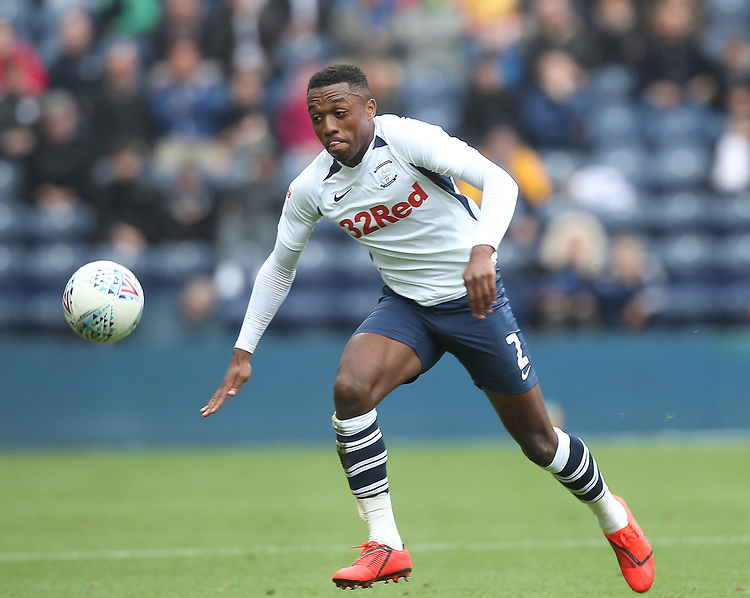 Preston North End's Darnell Fisher <br /> <br /> Photographer Mick Walker/CameraSport<br /> <br /> The EFL Sky Bet Championship - Preston North End v Wigan Athletic - Saturday 10th August 2019 - Deepdale Stadium - Preston<br /> <br /> World Copyright © 2019 CameraSport. All rights reserved. 43 Linden Ave. Countesthorpe. Leicester. England. LE8 5PG - Tel: +44 (0) 116 277 4147 - admin@camerasport.com - www.camerasport.com