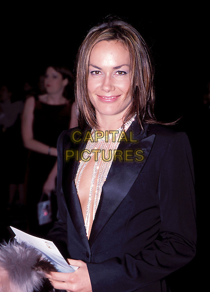 TARA PALMER TOMKINSON arrives at Albert Hall for the National Television Awards 2002.Ref: 11870.sales@capitalpictures.com.www.capitalpictures.com.©Capital Pictures