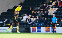 Burton Albion's Lucas Akins is ordered off the pitch by referee Michael Salisbury to change his shirt<br /> <br /> Photographer Chris Vaughan/CameraSport<br /> <br /> The EFL Sky Bet League One - Saturday 23rd February 2019 - Burton Albion v Fleetwood Town - Pirelli Stadium - Burton upon Trent<br /> <br /> World Copyright © 2019 CameraSport. All rights reserved. 43 Linden Ave. Countesthorpe. Leicester. England. LE8 5PG - Tel: +44 (0) 116 277 4147 - admin@camerasport.com - www.camerasport.com